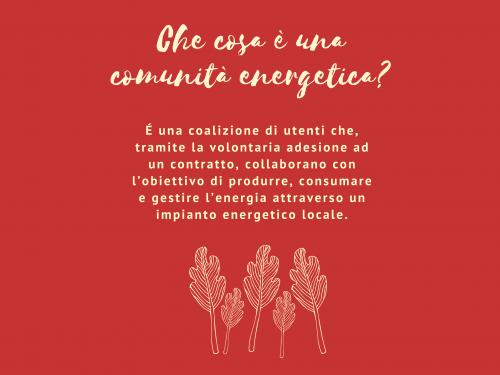Decalogo della Comunità Energetica. #1 Che cosa è una comunità energetica?