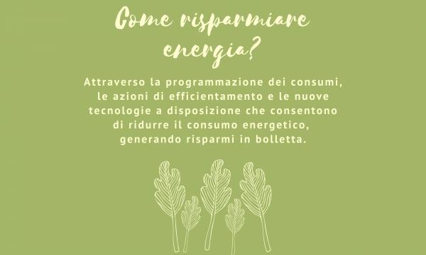 Decalogo della Comunità Energetica. #3 Come risparmiare energia?