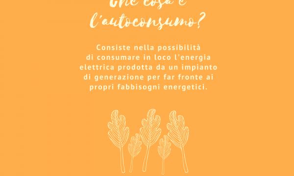 Decalogo della Comunità Energetica. #5 Che cosa è l'autoconsumo?
