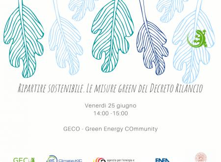 Ripartire sostenibile. Le misure green del Decreto Rilancio.